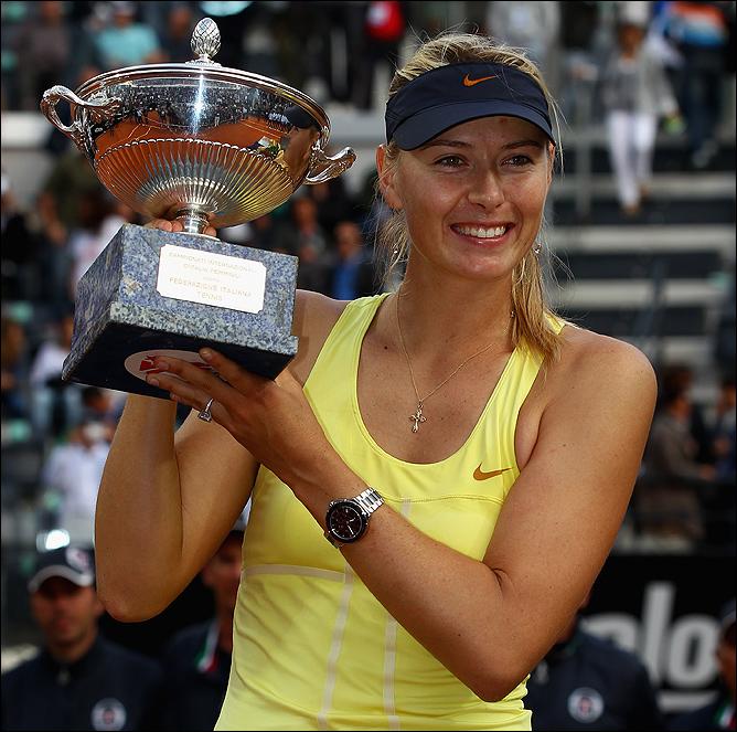 Шарапова триумфально завершила турнир в Риме