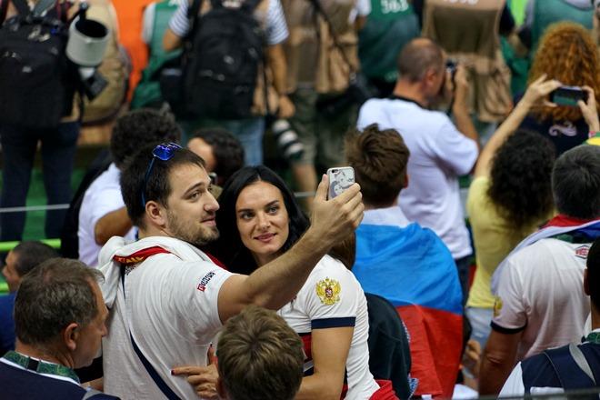 Елена Исинбаева с мужем
