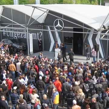 """Участие Росберга в пиар-мероприятии """"Мерседеса"""" собрало много народу"""