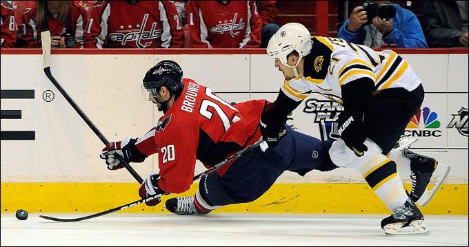 "23 апреля 2012 года. Вашингтон. Плей-офф НХЛ. 1/8 финала. ""Вашингтон Кэпиталз"" — ""Бостон Брюинз"" — 3:4 (ОТ)"