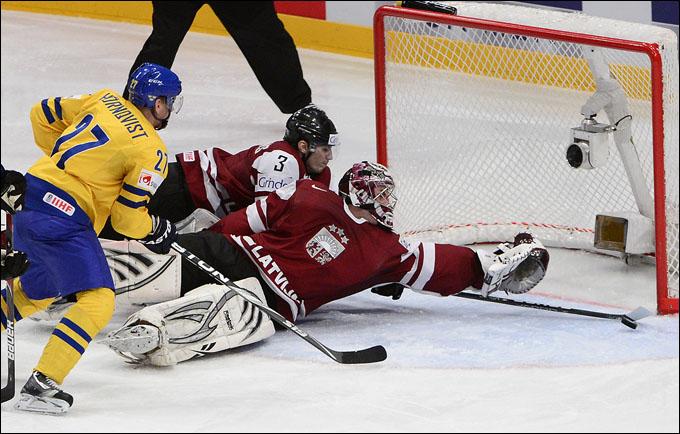 15 мая 2012 года. Стокгольм. Чемпионат мира. Групповой турнир. Швеция — Латвия — 4:0
