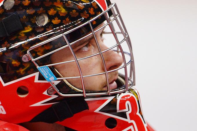 Голкипер сборной Канады по следж-хоккею Корбин Уотсон расстроен поражением от команды США в полуфинале Паралимпиады
