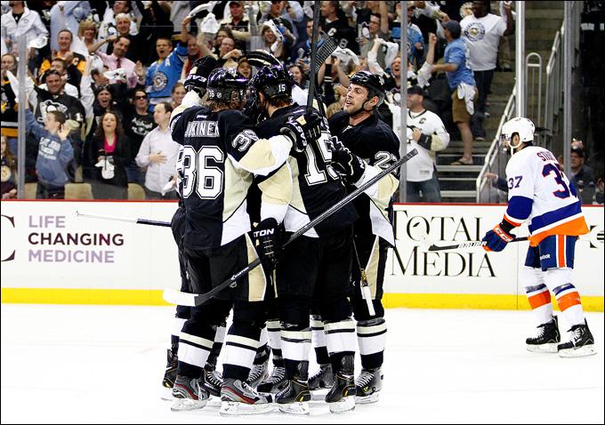 """1 мая 2013 года. Питтсбург. Плей-офф НХЛ. 1/8 финала. Матч № 1. """"Питтсбург"""" — """"Айлендерс"""" — 5:0. """"Островитяне"""" разгромлены"""
