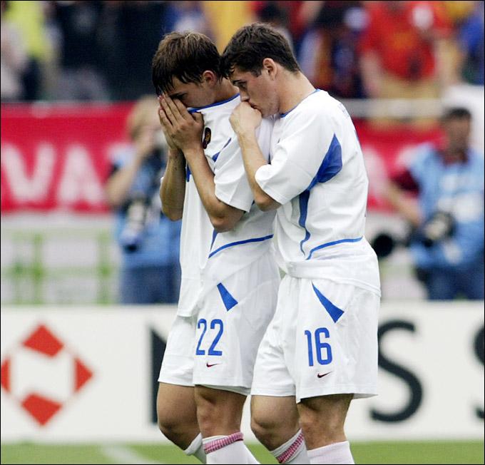 Дмитрий Сычёв и Александр Кержаков на чемпионате мира-2002