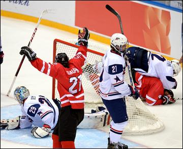28 апреля 2013 года. Сочи. Чемпионат мира среди юниоров. Финал. Канада – США – 3:2. Победный гол канадцев