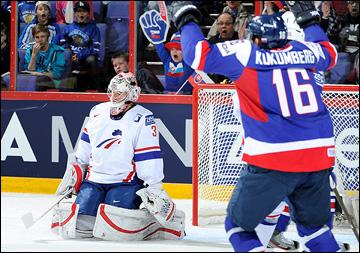 3 мая 2013 года. Хельсинки. Чемпионат мира. Групповой турнир. Франция — Словакия — 2:6