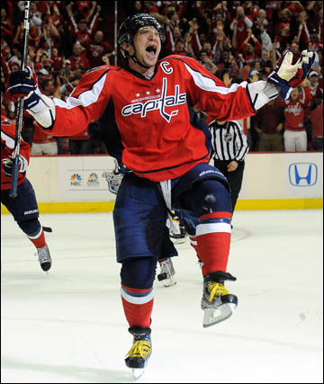 """23 апреля 2012 года. Вашингтон. Плей-офф НХЛ. 1/8 финала. """"Вашингтон Кэпиталз"""" — """"Бостон Брюинз"""" — 3:4 (ОТ). Александр Овечкин"""