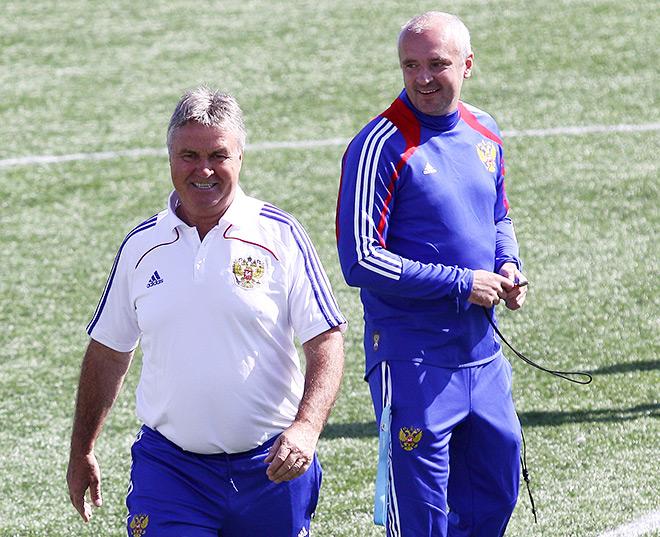 Гус Хиддинк и Игорь Шалимов