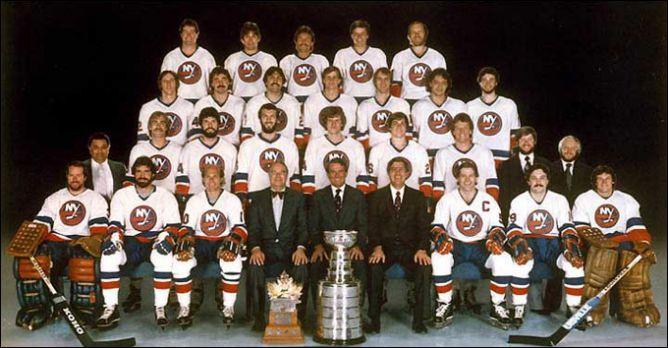 """Обладатели Кубка Стэнли 1981 года – """"Нью-Йорк Айлендерс""""."""