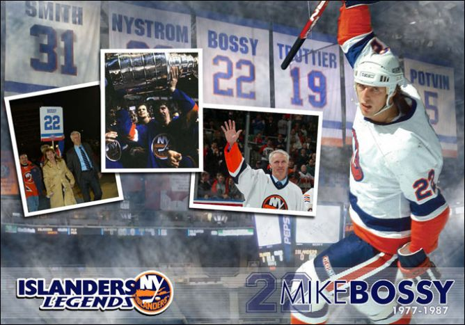 "Живая легенда ""Айлендерс"" - Майк Босси."