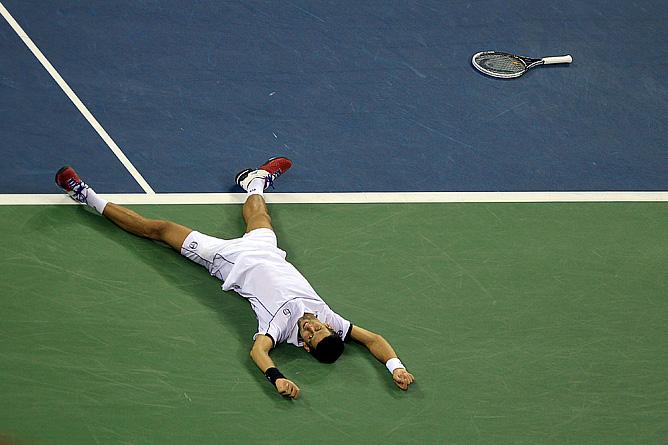 Новак Джокович после заключительного розыгрыша матча