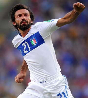 Андреа Пирло отметил сотый матч за сборную Италии голом в ворота сборной Мексики