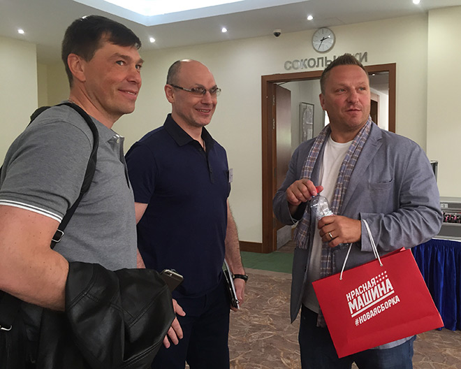 Алексей Кудашов, Дмитрий Юшкевич и Дарюс Каспарайтис