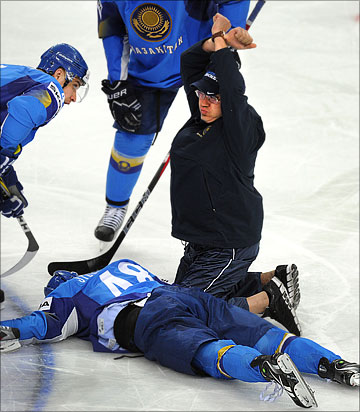 6 мая 2012 года. Хельсинки. Чемпионат мира. Групповой турнир. Франция — Казахстан — 6:3