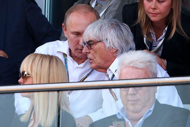 Валерия и Владимир Винокур «прикрывают» Владимира Путина и Берни Экклстоуна