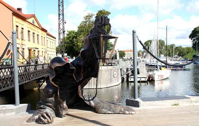 Памятник привидению в Клайпеде