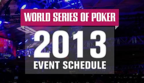Полное расписание доступно на WSOP.com