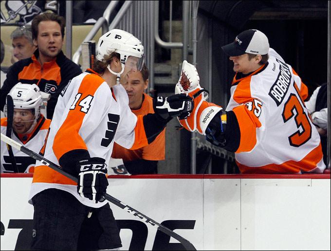 """Восходящая звезда североамериканского хоккея Шон Кутюрье привёл в восторг поклонников """"Флайерз"""""""