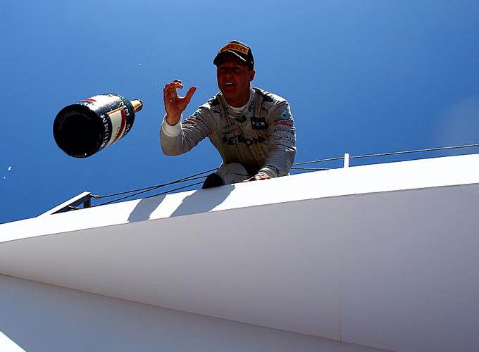 Михаэль Шумахер на подиуме Гран-при Европы