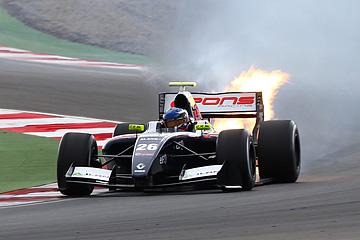 На Moscow Raceway у Марценко взорвался мотор