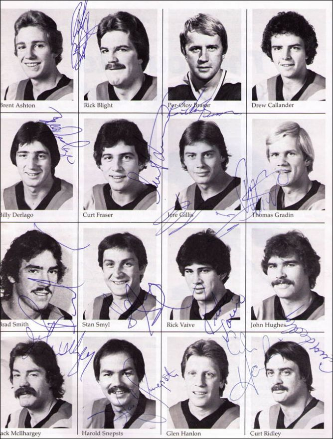 """Открытие сезона-1981/82 - """"Ванкувер Кэнакс""""."""