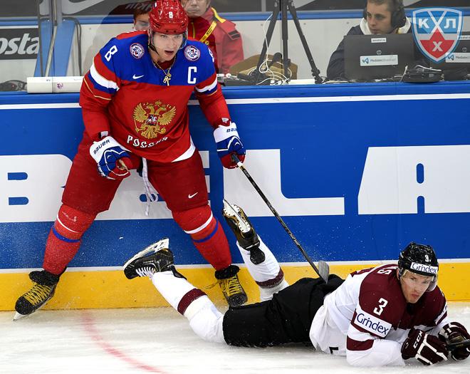 Фрагменты матча Латвия — Россия