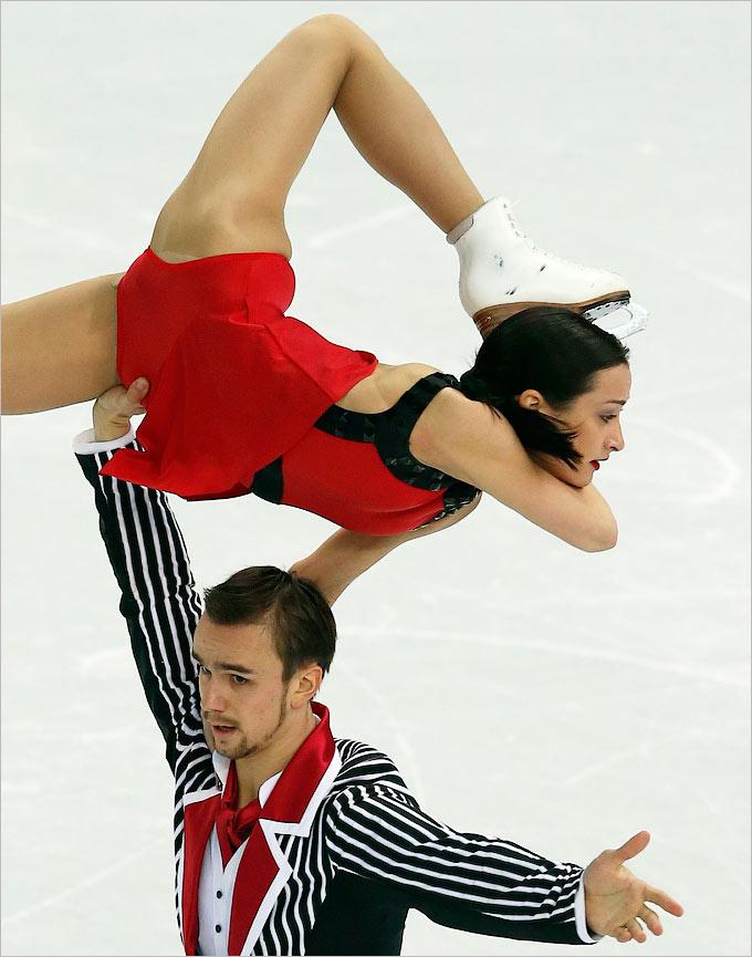 Ксения Столбова и Фёдор Климов выиграли произвольную программу в соревновании спортивных пар