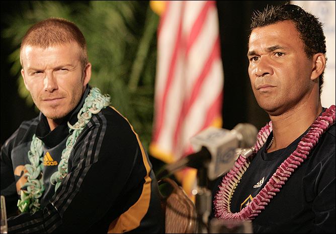 С Бекхэмом на Гавайях.