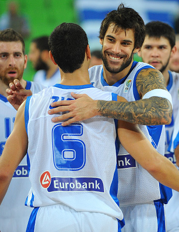 Гиоргиос Принтезис — один из лидеров сборной Греции