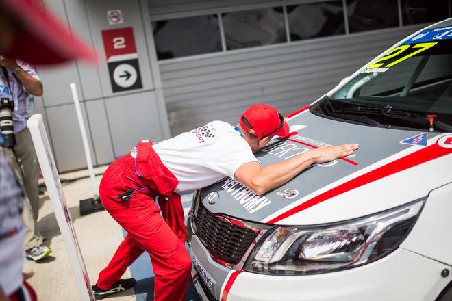 Первая победа Kia Rio стала настоящим праздником для тольяттинских механиков