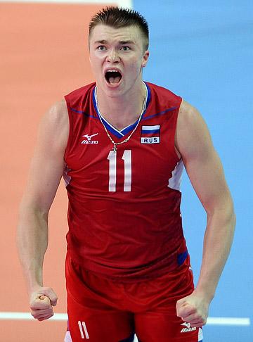Связующий сборной России Павел Панков