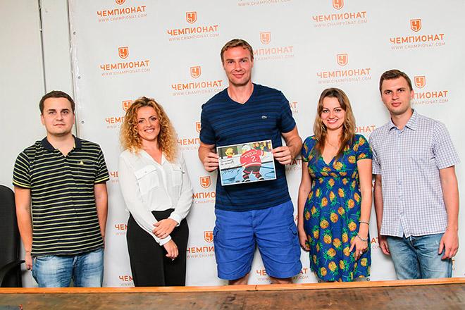 Виктор Козлов и журналисты «Чемпионата»