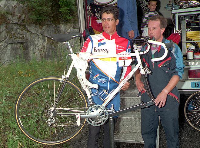 Так 20 лет назад выглядел новейший велосипед Индурайна