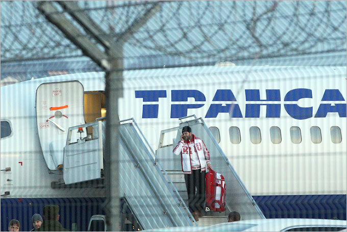 Хоккейная сборная России прибыла в Сочи