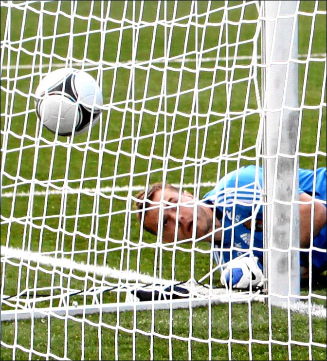 Мяч в ворота ЦСКА