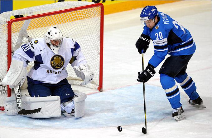 14 мая 2012 года. Хельсинки. Чемпионат мира. Групповой турнир. Казахстан — Финляндия — 1:4