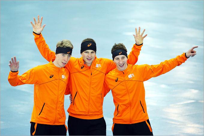Голландцы заняли весь пьедестал в гонке на 5000 метров