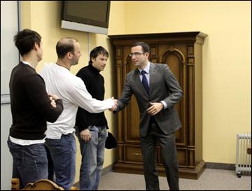 Алексей Торбин в клубном офисе