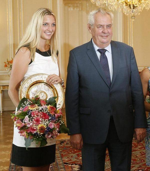 Петра Квитова встретилась с президентом Чехии
