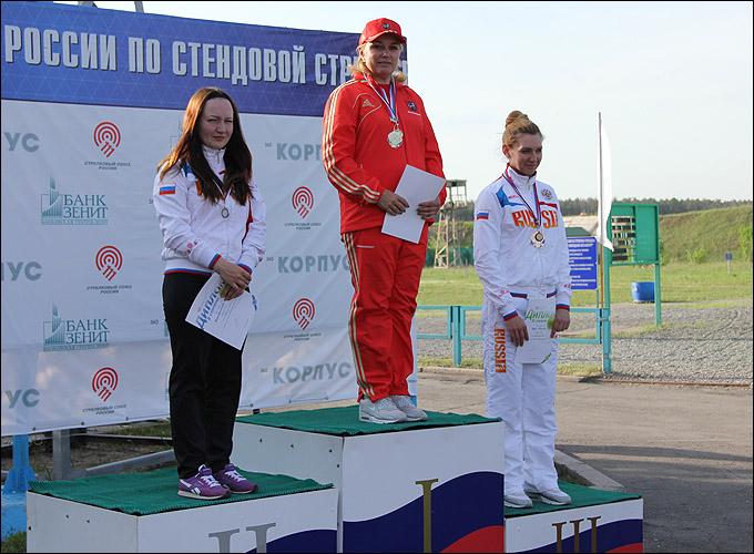 Ирина Ларичева на верхней ступени пьедестала почёта чемпионата России