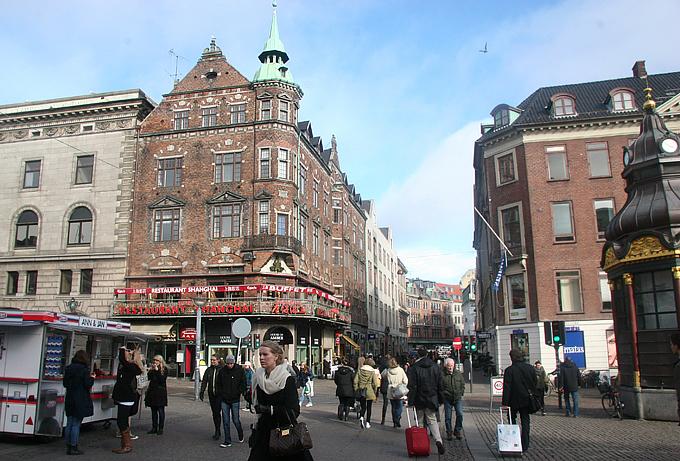 Вид на улицу Строгет – копенгагенский Арбат