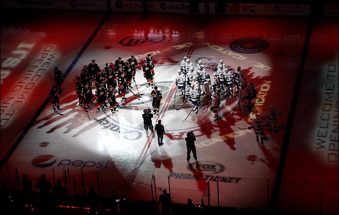 Открытие хоккейного сезона в Анахайме