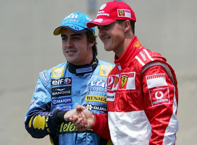 Алонсо отобрал у Шумахера титул в 2005-м и не отдал в 2006-м