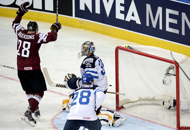 ЧМ-2014 сборная Финляндии начала с поражения от сборной Латвии