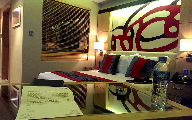 Вид стандартного номера в гостинице Radisson Blu