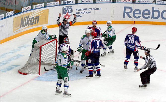 """СКА против """"Салавата Юлаева""""."""