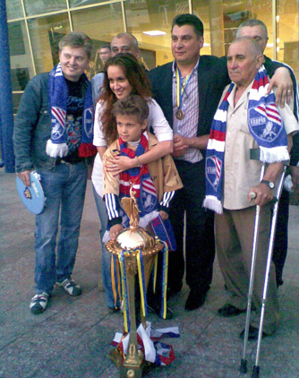 Семья Пучкова после победы в 2010 году