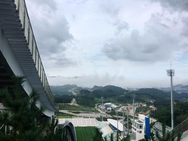 Вид с башни для прыжков