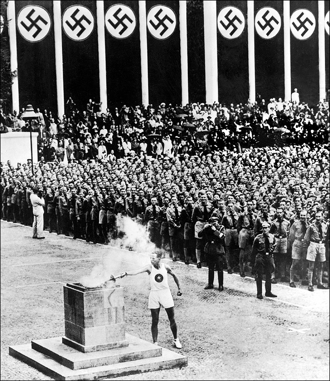 Эстафета Олимпийского огня. Берлин-1936
