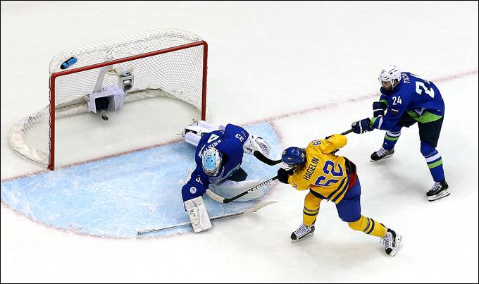 19 февраля 2014 года. Сочи. XXII зимние Олимпийские игры. Хоккей. 1/4 финала. Швеция — Словения — 5:0